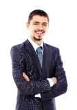Happy smiling young businessman Stock Photography