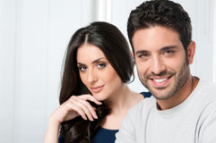 Happy smiling young couple Royalty Free Stock Image