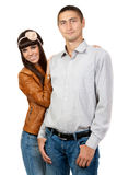 Happy smiling young couple Stock Photo