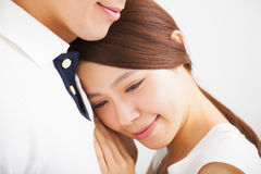 Happy Smiling young Couple in love Stock Photos