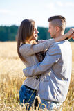Happy smiling young couple outdoor. valentine concept Royalty Free Stock Photos