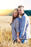 Happy smiling young couple outdoor. valentine concept Stock Image