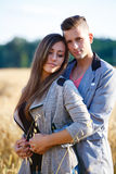 Happy smiling young couple outdoor. valentine concept Stock Photos
