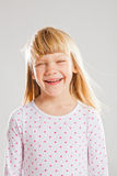 Happy smiling young girl Stock Images