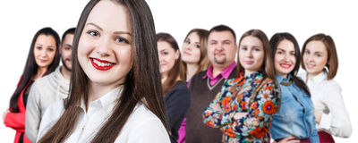 Happy smiling young group of people Royalty Free Stock Photography