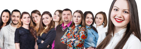 Happy smiling young group of people Stock Images