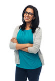 Happy smiling young indian woman in glasses Stock Photography