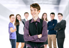 Happy smiling young people portrait Royalty Free Stock Photo