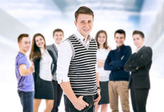 Happy smiling young people portrait stock photography