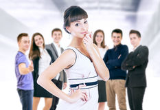 Happy smiling young people portrait royalty free stock image