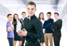Happy smiling young people portrait stock images