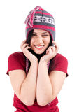 Happy, smiling young woman Royalty Free Stock Image