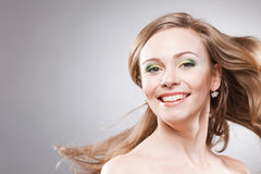 Happy smiling young woman Stock Images