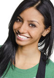 Happy smiling young woman royalty free stock photos