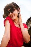 Happy smiling young woman Royalty Free Stock Photography