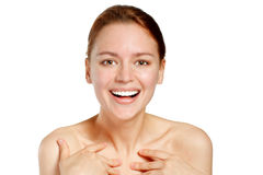 Happy smiling young woman Stock Photography
