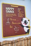 Happy Snack For The Pandas. Showing the ingredients and procedures on how the pandas favorite unique snacks are made Stock Image