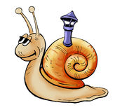 Happy Snail Royalty Free Stock Photography