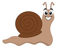 A happy snail brown Royalty Free Stock Images