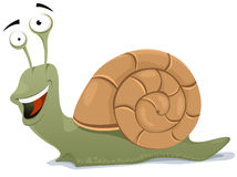 Happy Snail Character Stock Photos