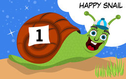 Happy snail runner Royalty Free Stock Images