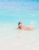 Happy Snorkel Royalty Free Stock Images