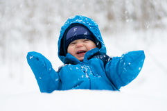 Happy in the snow Royalty Free Stock Photos