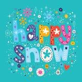 Happy snow vector illustration