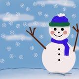 Happy snow man Royalty Free Stock Photos