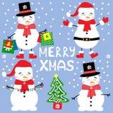 Happy Snow Man Royalty Free Stock Image