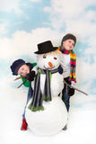 Happy snow time Royalty Free Stock Image