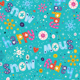 Happy snow winter seamless pattern Stock Image
