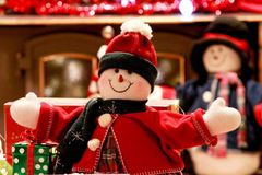 Happy snow woman royalty free stock photo