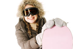 Happy snowboarder Royalty Free Stock Images