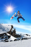 Happy Snowboarder Stock Photography