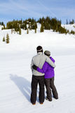 Happy Snowboarding Couple Royalty Free Stock Image