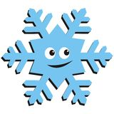 Happy snowflake Royalty Free Stock Images