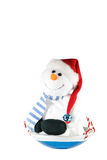Happy snowman. Royalty Free Stock Photos