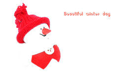 Happy Snowman. Royalty Free Stock Image