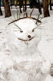 Happy snowman Royalty Free Stock Image