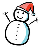 Happy Snowman. A happy snowman is smiling Stock Photo