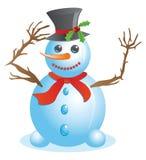 Happy Snowman Stock Image