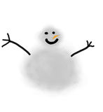 Happy Snowman. A snowman holiday design for Christmas illustration that you can personalize royalty free illustration