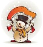 Happy snowman Stock Images