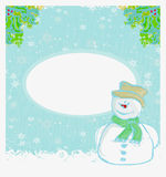 Happy snowman card Stock Photo