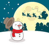 Happy snowman with christmas. Great for your design Royalty Free Stock Image