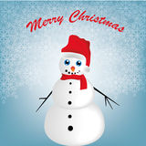 Happy snowman in christmas Royalty Free Stock Photos