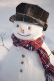 Happy snowman close up Stock Photos