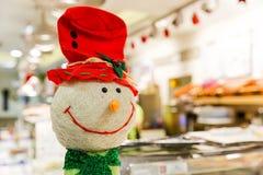 Happy snowman decor Stock Image