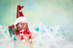 Happy snowman decoration Stock Photography